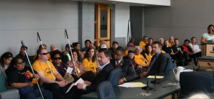 Riders speak out for affordable transit in April 2015