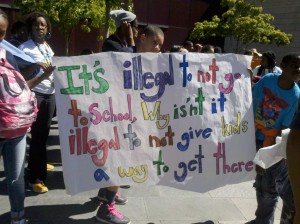It's illegal to not go to school, why isn't it illegal to not give kids a way to get there?